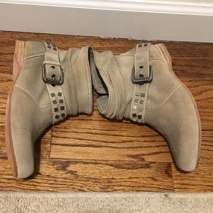 Mea Shadow Tan Suede Studded Bootie